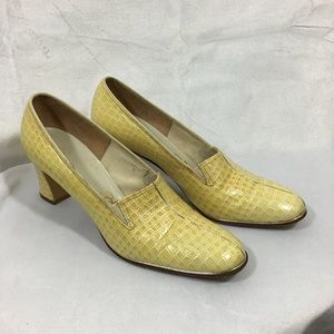 Vintage Selby Embossed Leather Snake Print Pumps